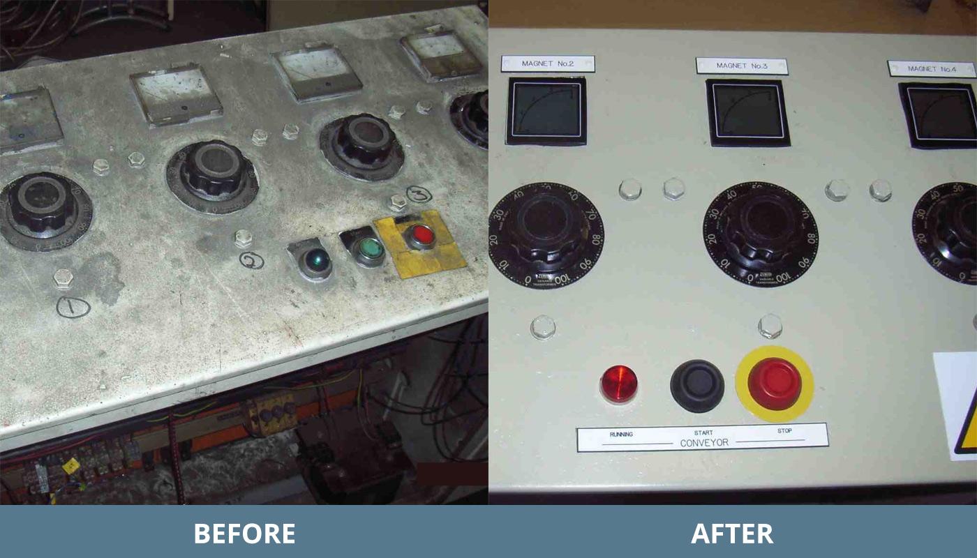Control Panel Refurb Repair Belmos Electrical Scotland